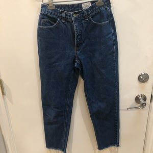 Jeans - High rise, mom/straight leg jeans
